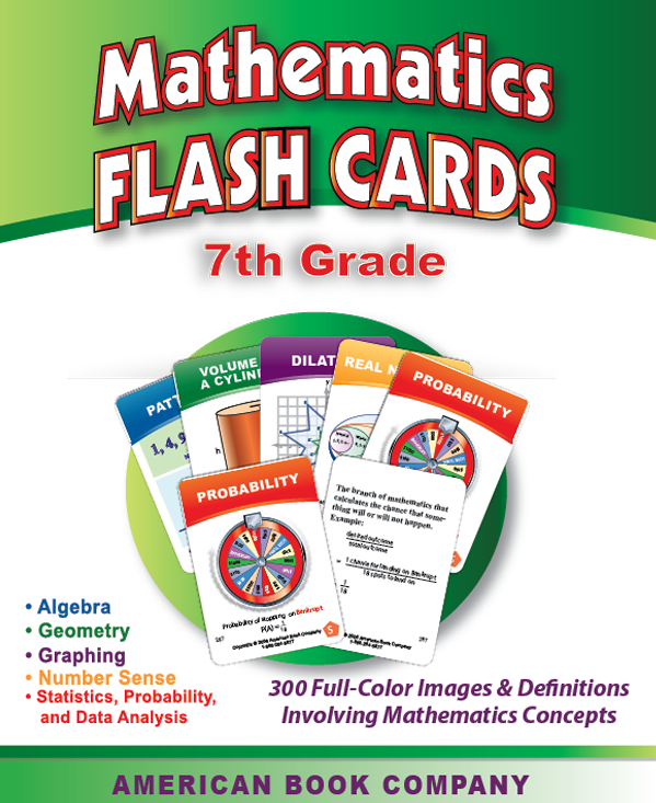 7th grade math flash cards american book company. Black Bedroom Furniture Sets. Home Design Ideas