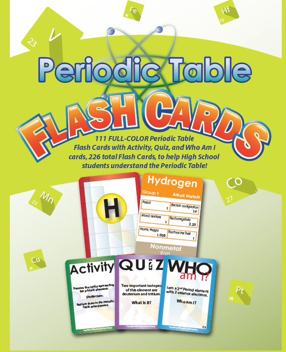 Periodic table flash cards american book company periodic table flash cards urtaz Image collections