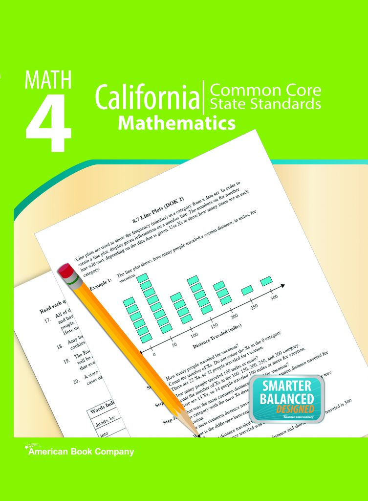 California Common Core State Standards in Grade 4 Math ⋆ American Book  Company